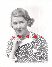 Vintage Ruth Donnelly CHARACTER ACTRESS 30s RED SALUTE Publicity Portrait