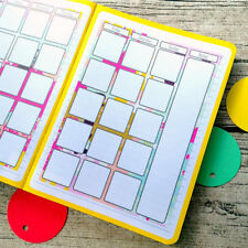 Month at a glance abstract pain two page journal calendar, Bullet journal #1012
