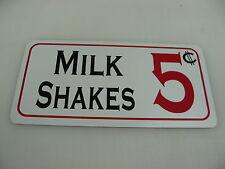MILK SHAKES Sign Metel vintage soda fountain billiard game room kitchen Diner