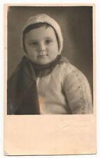 1951 Judaism Judaica Vintage Soviet Signed Photo LITTLE GIRL CAP SCARF USSR