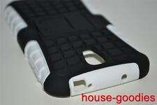 Good Protection White Case Cover Stand For Samsung Galaxy S4 Durable Heavy Duty