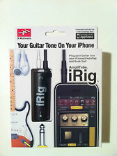 Amplificatore Irig amplitube per iPhone 4,4s,ipod 1 e 2,ipad1,2,3 nuovo RTO3