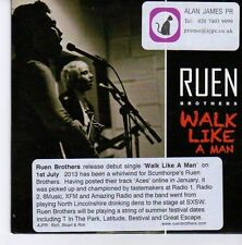 (EB18) Ruen Brothers, Walk Like A Man - 2013 DJ CD