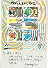 05434 - CALCIO - ITALIA 1990 FOGLETTO STADI SASS. 7 su BUSTA!