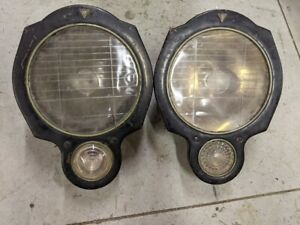 Packard Headlights Circa 1916-1920 May Fit Other Antique Car Automobile