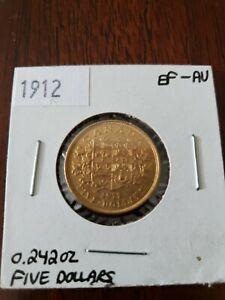 Canada 1912 Gold Coin 5 Dollars