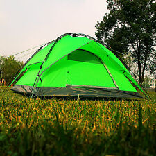 Gazelle Waterproof Double layer Instant Camping Family Pop Up Umbrella Tent