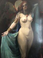 Original Large 1880 Paris Oil Painting Europe Artist P Snyers Lawrence Lomax DC