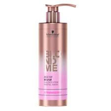 (55,96€/L) Schwarzkopf Professional BLONDME Blush Wash Shampoo Erdbeer 250ml