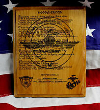 United States Marine Corps Force Reconnaissance, THE RECON CREED PLAQUE, 3d GIFT