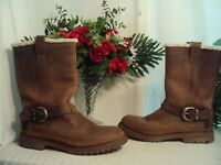 REALLY THICK TAN LEATHER TIMBERLAND WATERPROOF WINTER BOOTS SIZE  7 HARDLY WORN