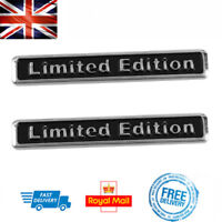 x2 LIMITED EDITION 3D Boot Badge Emblem Car Sticker Chrome Metal BMW Mini KIA