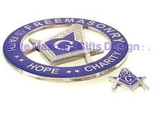 Masonic Master Mason Cut out Car Auto Silver Emblem and Mini Emblem:.