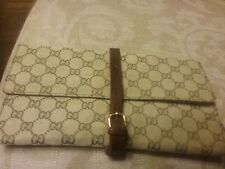 Authentic Vintage Gucci Travel Jewelry Keeper Roll Case Brown/tan Accessory Rare