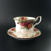 Royal Albert Old Country Roses Footed Tea Cup & Saucer Set Made in England
