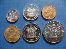 South Africa year set 1977. 50cents 20cents 10cents 5c 2c & 1c. High Grades.