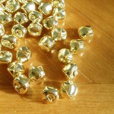 100 pcs/bag Gold Color Metal Craft Bell Christmas Jingle Bell Craft Bells Decor