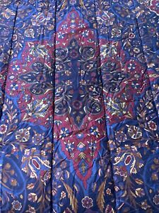 Ralph Lauren Estate TWIN Comforter Brentford Jewel Tone EGYPTIAN Cotton NOS Blue