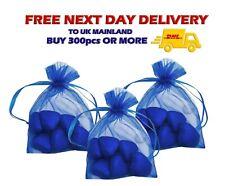 ROYAL BLUE MEDIUM ORGANZA Gift BAGS 9 x 12cm Jewellery Pouch Favour Wholesale UK