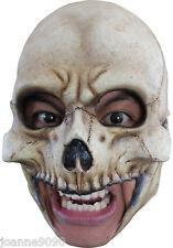 LUJO CALAVERA ESQUELETO MENTÓN CORREA sin Látex Halloween Terror Disfraz Máscara