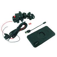 Handlebar U-Bolt TiGRA MountCase iPhone 6S Hardwire/Direct to battery charger