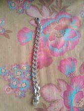 34 G Italian Silver Heavy Link Mens Bracelet