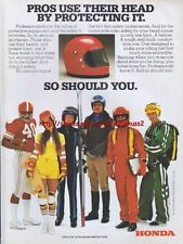 "Honda ""Protection"" Motorcycle 1978 Magazine Advert #1519"
