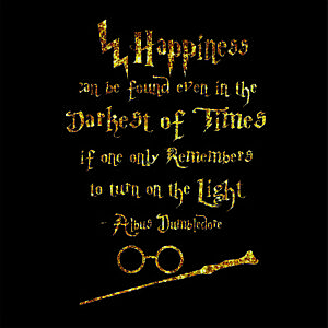 Harry Potter Wall Stickers Happiness Can Be Found Even In The Darkest Of Times