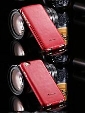 Schutzhülle  Leder Case Flip Klappe iPhone 5s/5 /SE Schön edle Art Luxus Rot