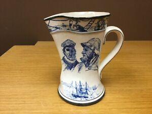 "Buffalo Pottery 1907 Under Glaze 9 1/8"" Marine Jug / Pitcher - Rare"