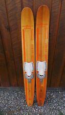 "ANTIQUE Set of Wooden 53"" Long Waterskis Water Skis AQUA RITE JUNIOR"