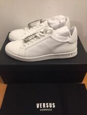 VERSUS VERSACE Lion Head Safety Pin White Trainers Sneakers Size UK 7/EU 40