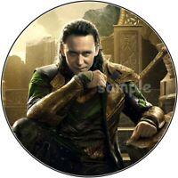 Loki Avengers Thor Eßbar Tortenbild Tortenaufleger Party Deko Geburtstag Muffin