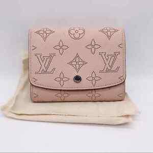 Authentic Louis Vuitton Mahina Iris NM Magnolia Wallet Pink Calf Leather