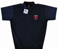 Minnesota Twins Majestic MLB Men's Dri Fit Polo Shirt Big & Tall Sizes NWT