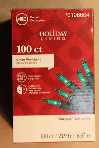 100  COUNT GREEN CHRISTMAS LIGHTS  on GREEN  CORD