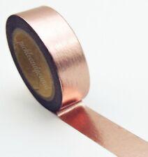 Foil Washi Tape Solid Decorative Masking Self Adhesive Stick On Trim 15mm x 10m