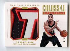 CJ McCollum 2017 National Treasures Colossal Materials Patch /7
