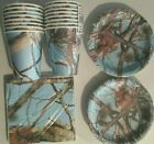 Light BLUE HUNTING CAMO Birthday Party Supply Kit w/ Plates,Napkins & Cups