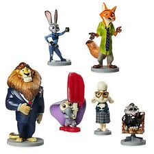 Disney Store Zootopia Doll Play Set Toy Action Figure Lion Elephant Bunny Sheep