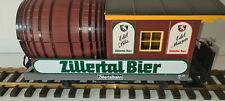 LGB 3042 2 Achs Restaurantwagen mit Bremserbühne Zillertal-Bier Faßlwagen 🚂