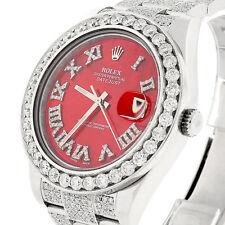 Rolex Datejust II 41MM Oyster Watch 116300 w/MOP Diamond Dial, Bezel & Bracelet