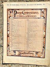 1885 sheet music BASE BALL WALTZ female composer HATTIE BROOK
