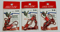 Eagle Claw Barrel Swivel 3/0 with Interlocking Snap Red 6 Pieces Total