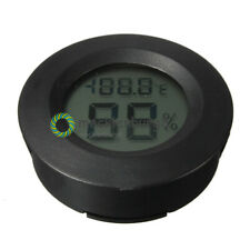 1PCS Digital Cigar Humidor Hygrometer Thermometer Round Black Face NEW