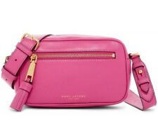 NWT MARC JACOBS CLASSIC ZOOM BEGONIA MAGENTA PINK LEATHER CROSSBODY BAG