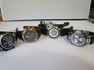 Men's Quartz Watch Lot Untested As Is Parts/ Repairs Bulova Citizen Nautica Nike