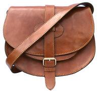 Genuine leather vintage style saddle hand, shoulder, crossbody bag satchel.