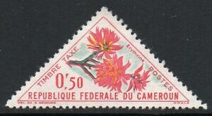 Cameroon 1963 - 50C Flowers Timber Tax Stamp mounted MINT