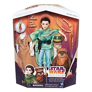 Star Wars Forces of Destiny - Leia and Ewok the Wicket. Brand New Dolls, NRFB.